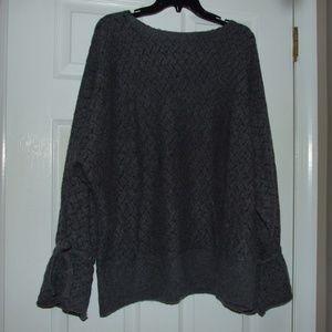 Lane Bryant Bell Sleeve Bow Knit Sweater 22/24 New